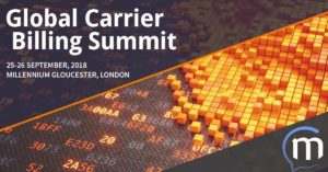 Global Carrier Billing Summit 2018 London Messaggio