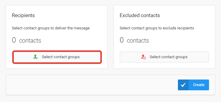 Select contact groups