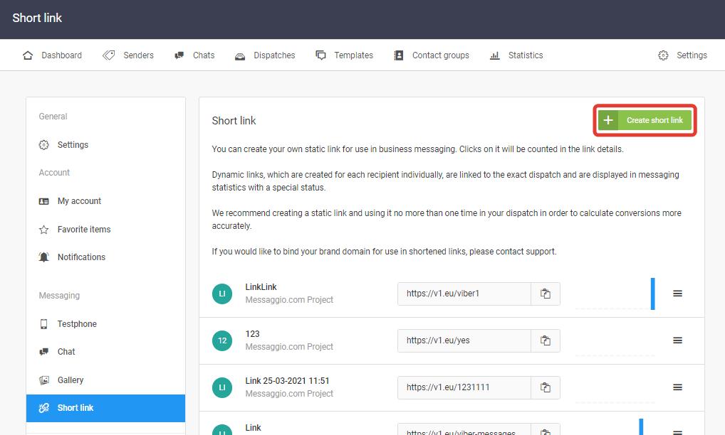 Create short link