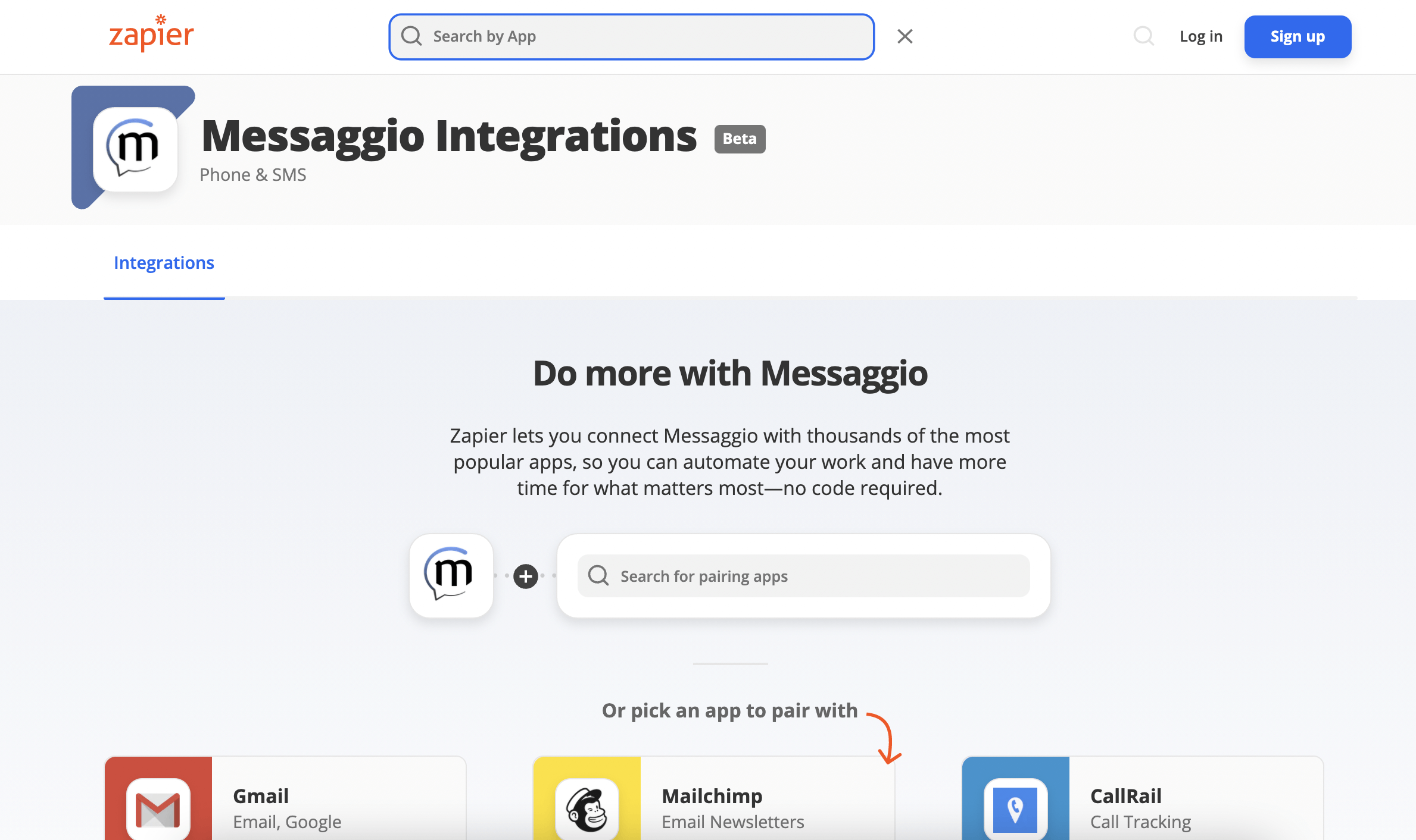 Integrations with Messaggio in Zapier